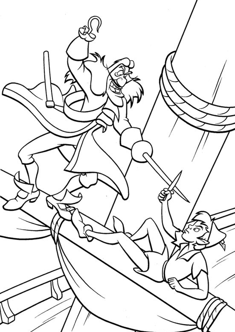 Tinkerbell And Peter Pan Coloring Pagespage2 EBook