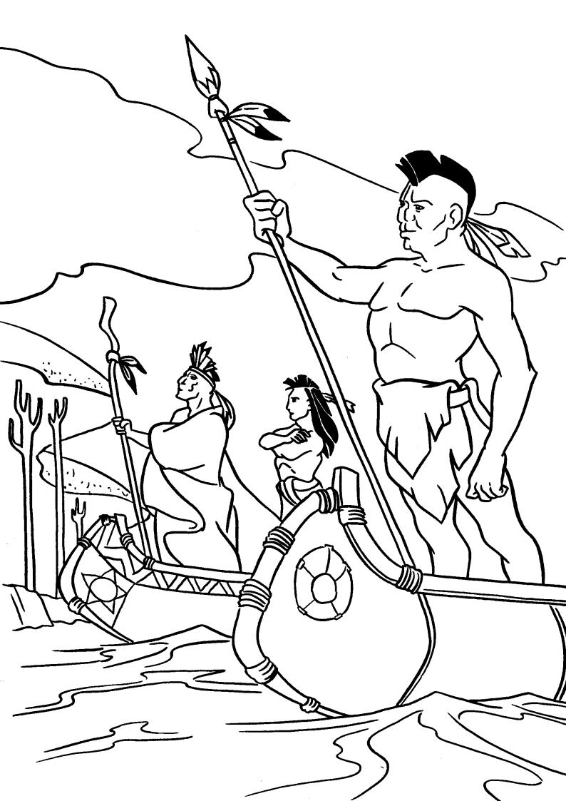 Kolorowanka Indianie Z Bajki Pocahontas Nr 33