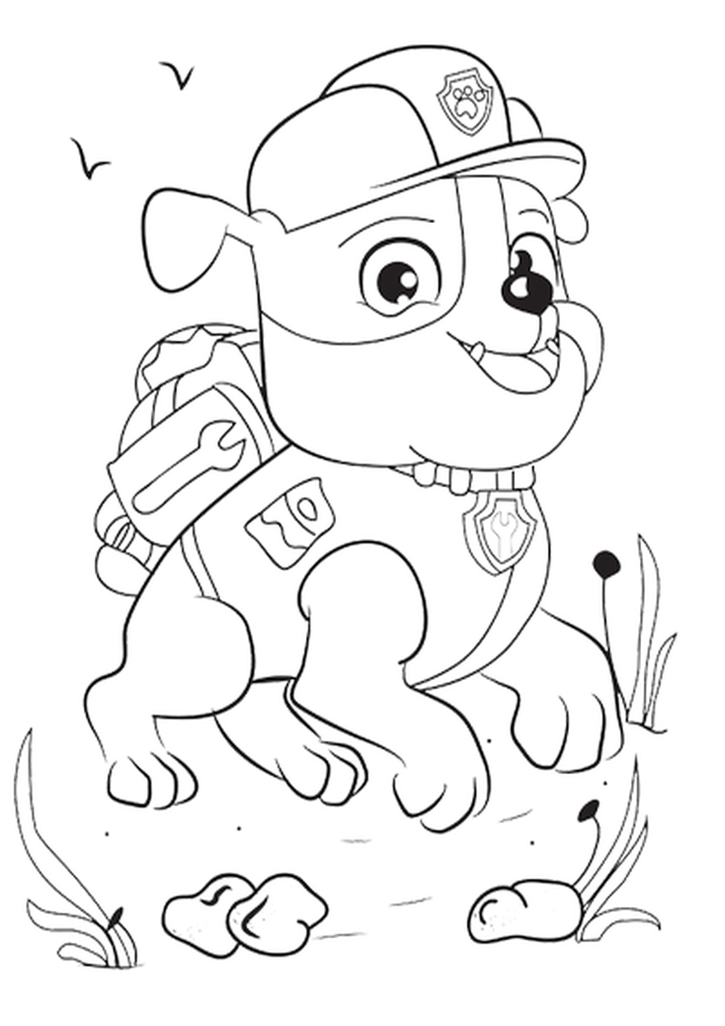 Paw Patrol Thanksgiving Coloring Pages : Marshall thanksgiving paw patrol coloring page