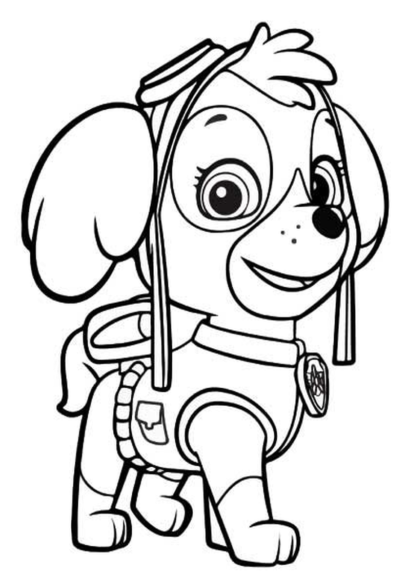 Sky Of Paw Patrol - Free Colouring Pages
