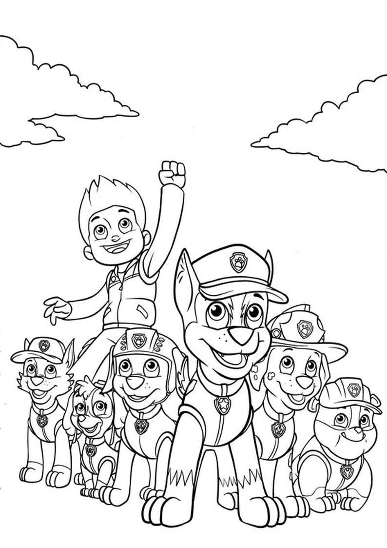 Kolorowanka Psi Patrol Do Wydruku Dla Dzieci Nr 6