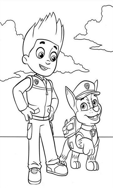 Kolorowanka Psi Patrol Do Wydruku Dla Dzieci Nr 8
