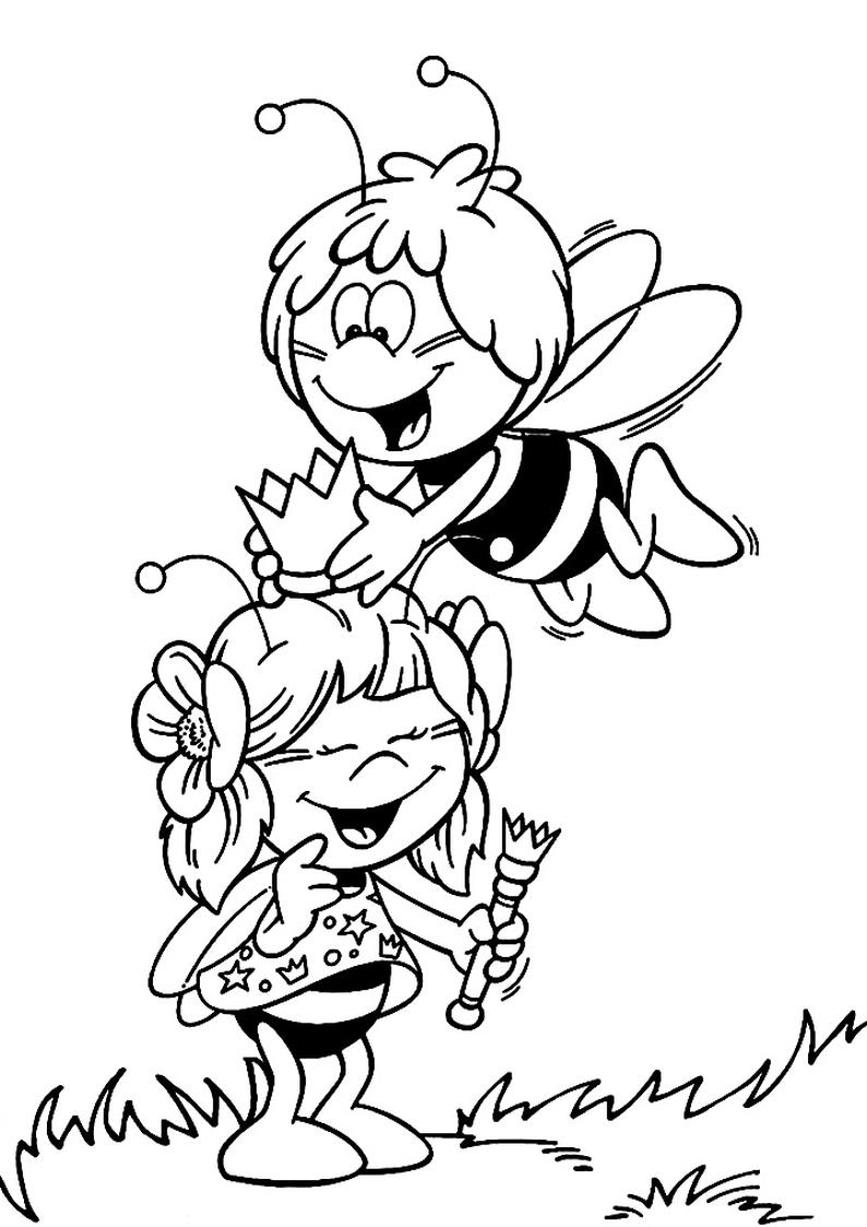 Kolorowanki Pszczolka Maja Malowanki