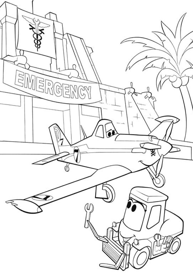 Kolorowanka Samoloty Disney Malowanka Nr 7