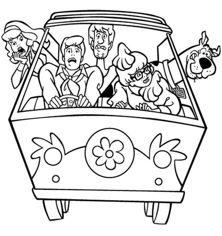 Kolorowanka Scooby Doo Malowanka Do Wydruku Nr 37