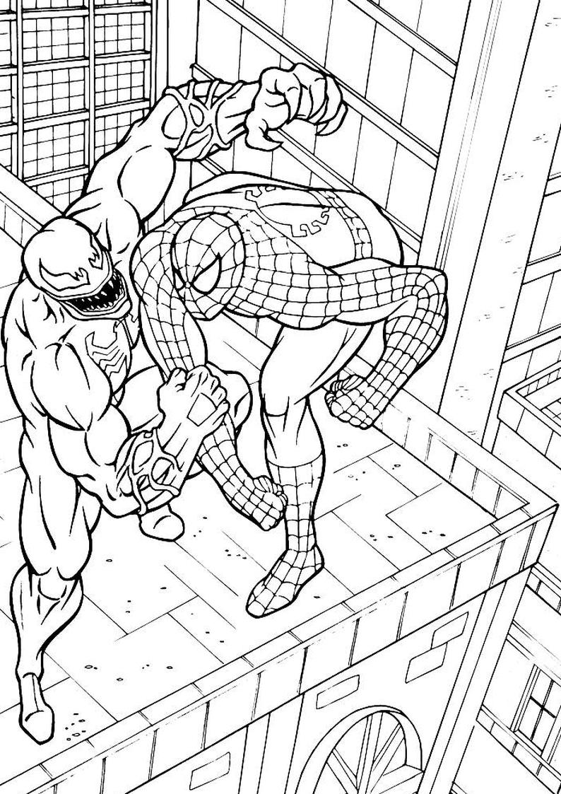 Kolorowanka Spider Man I Venom Nr 40