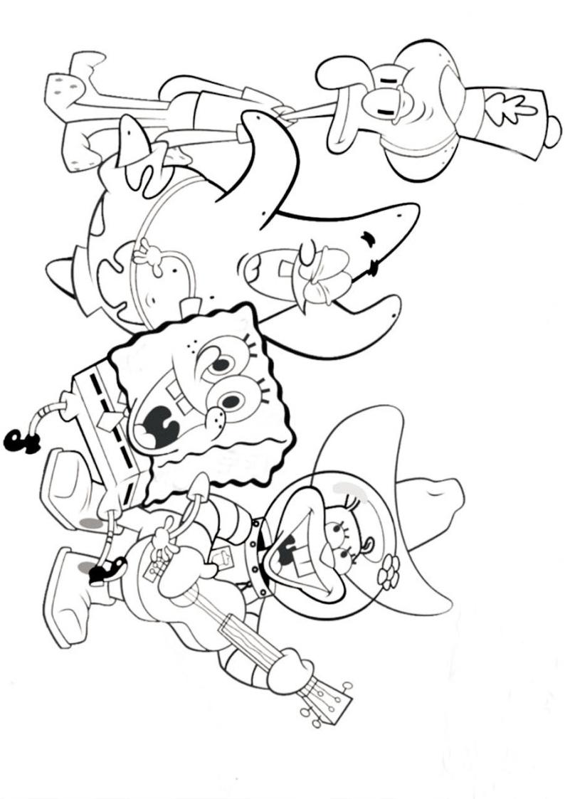 Kolorowanka Spongebob Malowanka Do Druku Nr 16