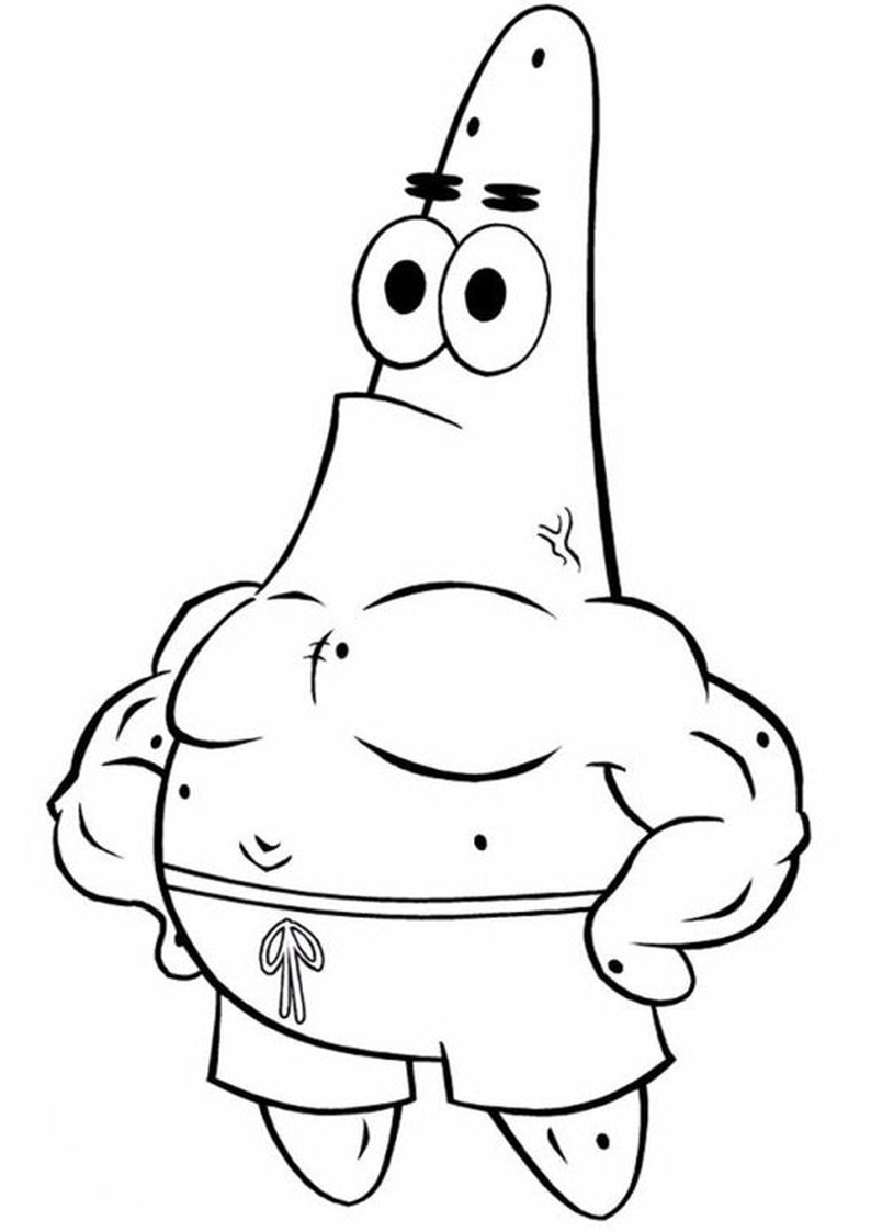 Patrick Star coloring page | 1123x794