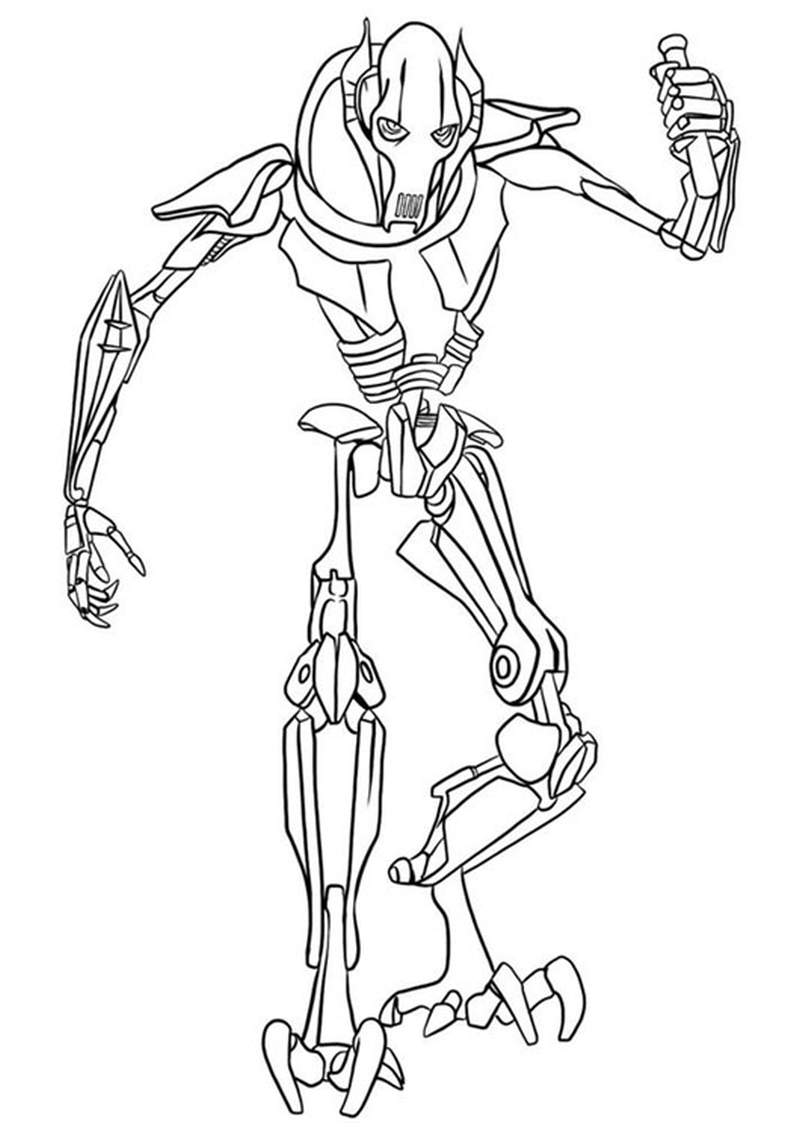 Lego general grievous coloring pages coloring pages for General grievous coloring page