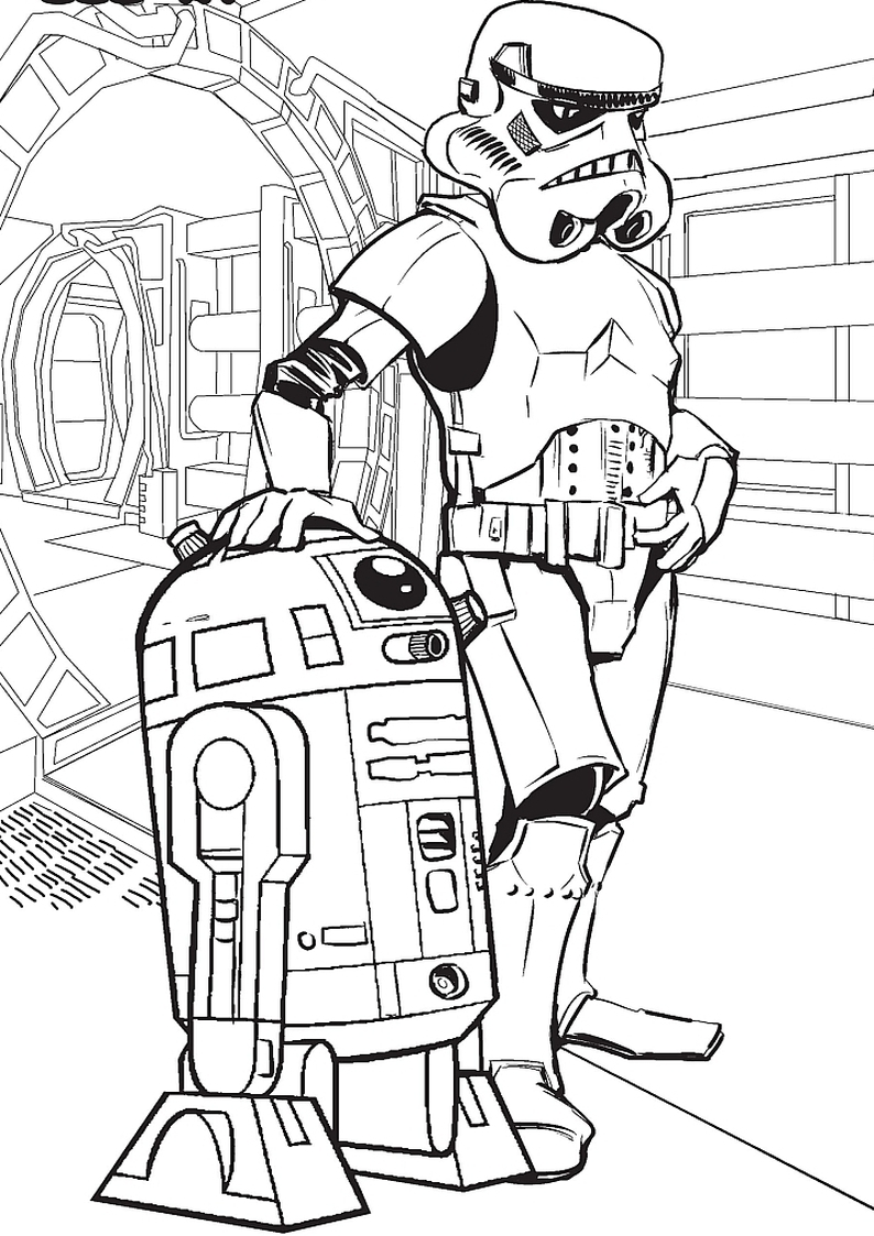 Star Wars At St Coloring Pages