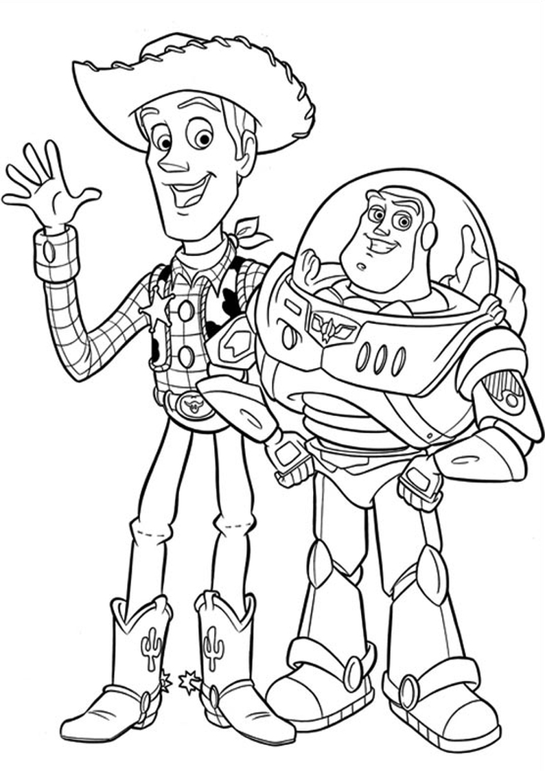 toy story coloring pages rexall - photo#12