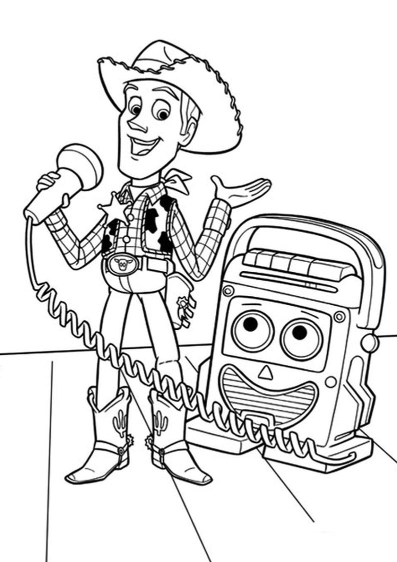 Kolorowanka Chudy Toy Story Nr 13
