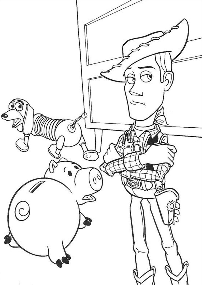 Kolorowanka Toy Story Chudy Cienki Hamm Nr 3