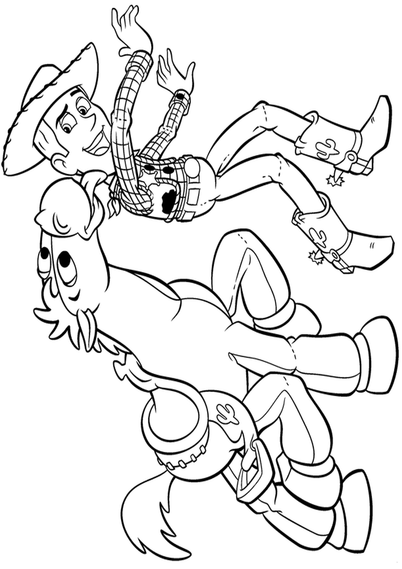 Chudy I Mustang Kolorowanka Toy Story Nr 35