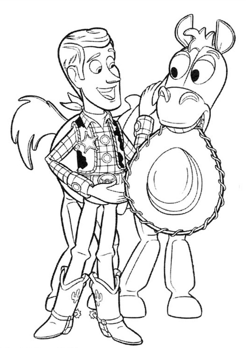 Kolorowanka Chudy I Mustang Toy Story Nr 55