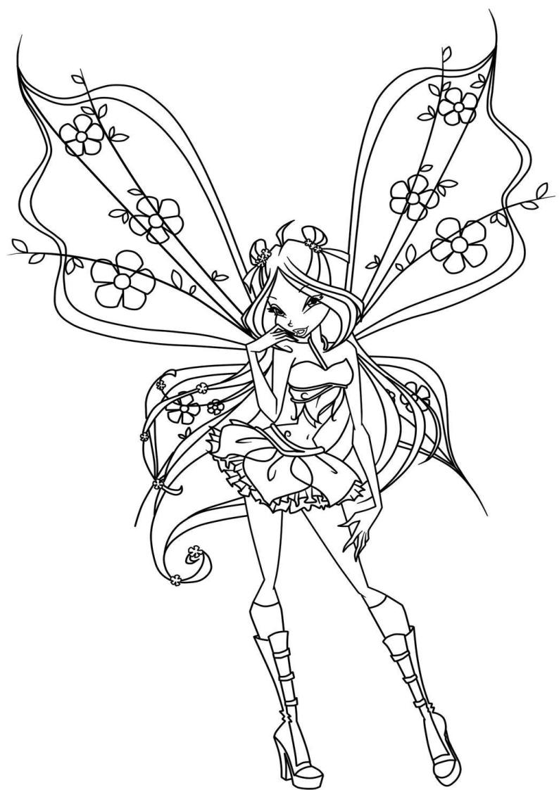 Kolorowanka Winx Flora Czarodziejka Nr 3