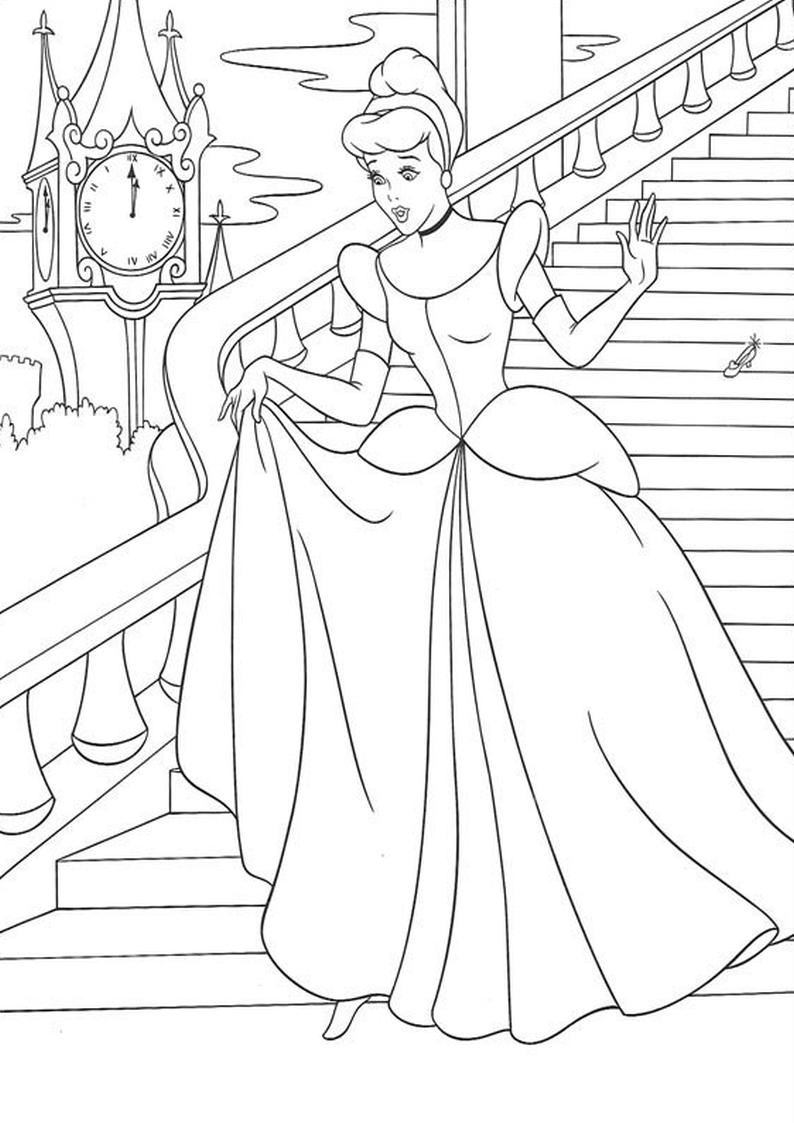 Kolorowanka Ksiezniczka Disney Kopciuszek Nr 31