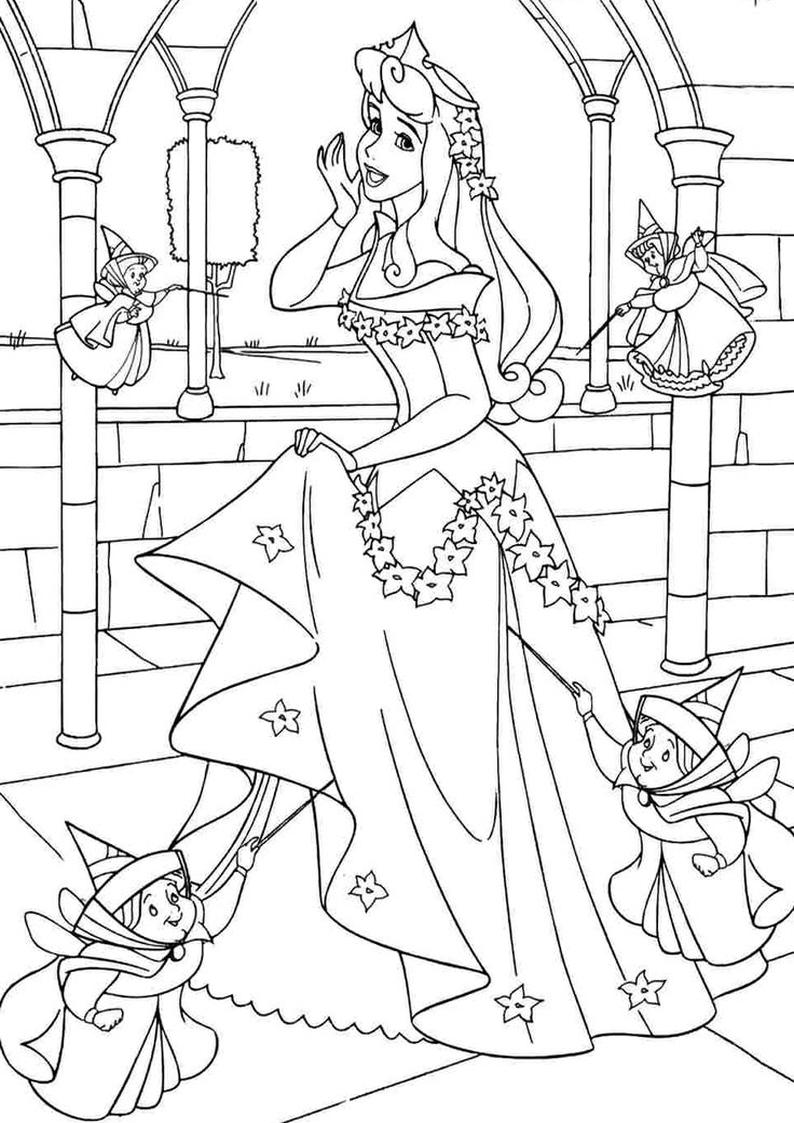 Kolorowanka Ksiezniczka Disney Aurora Nr 44
