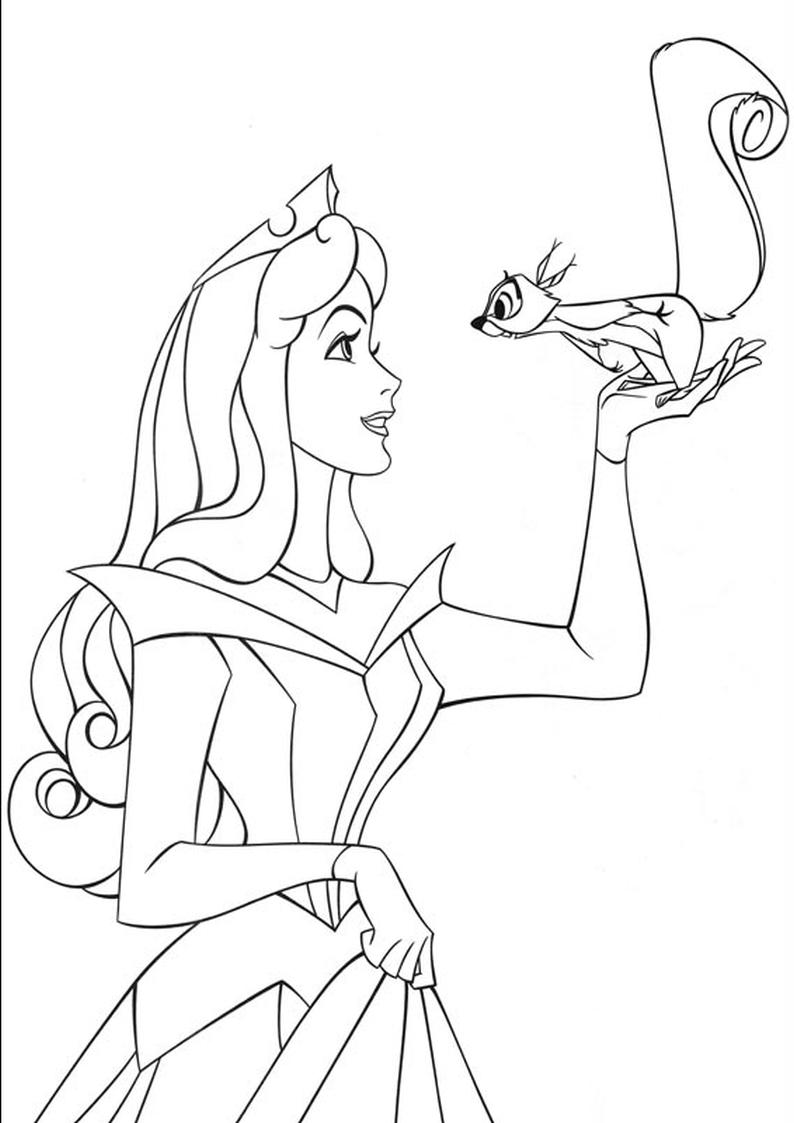 Kolorowanka Ksiezniczka Disney Aurora Nr 48