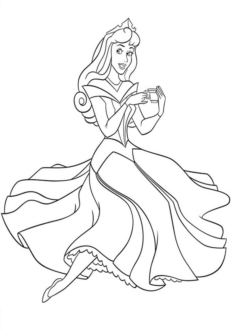 Kolorowanka Ksiezniczka Disney Aurora Nr 53