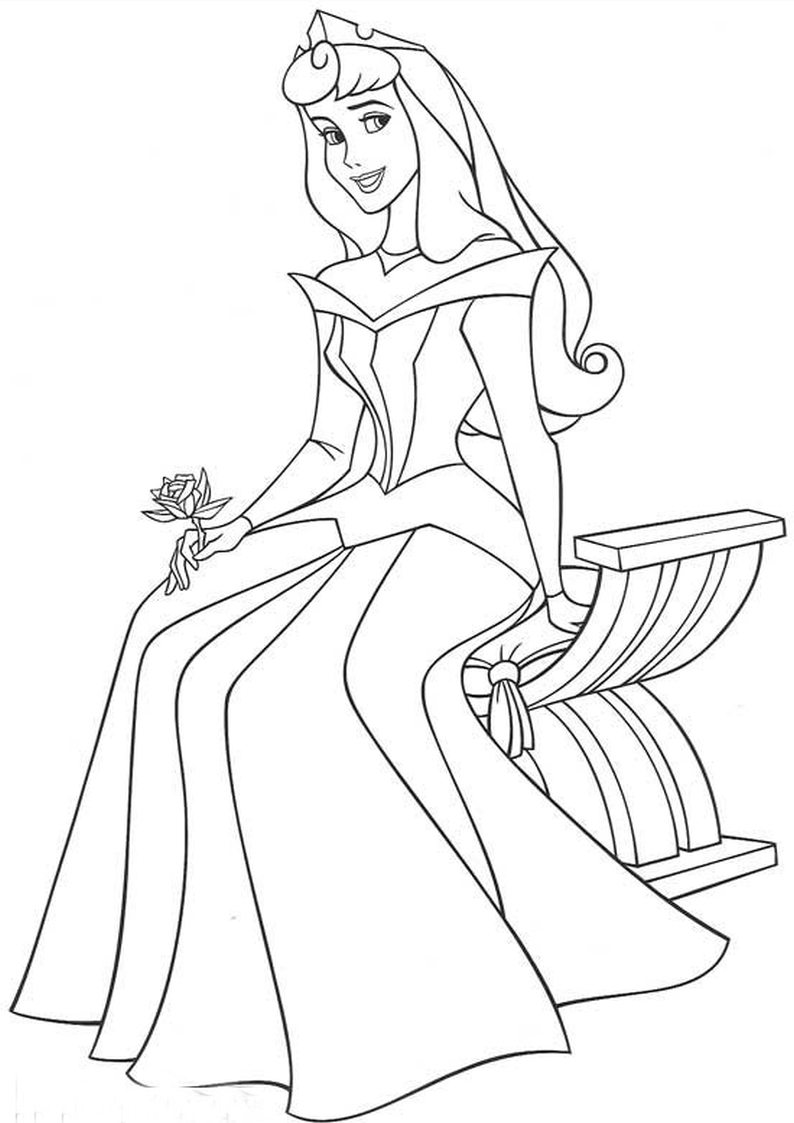Kolorowanka Aurora Ksiezniczka Disney Nr 54