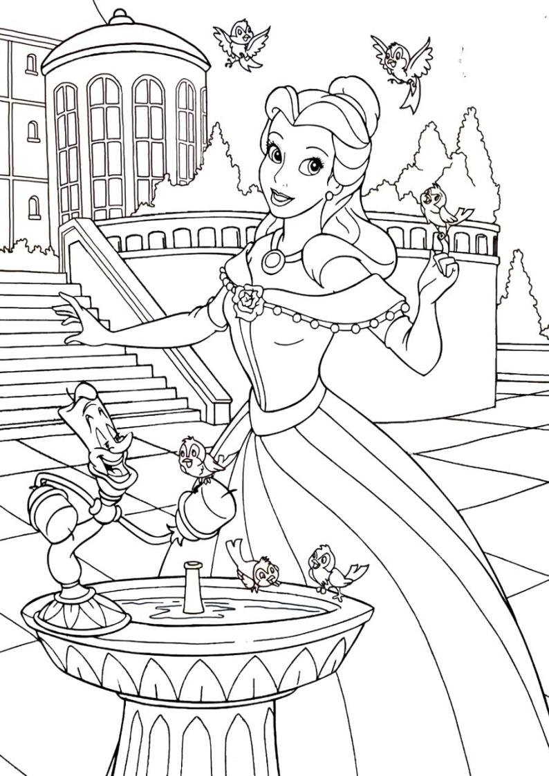 Kolorowanka Ksiezniczka Bella Disney Nr 9