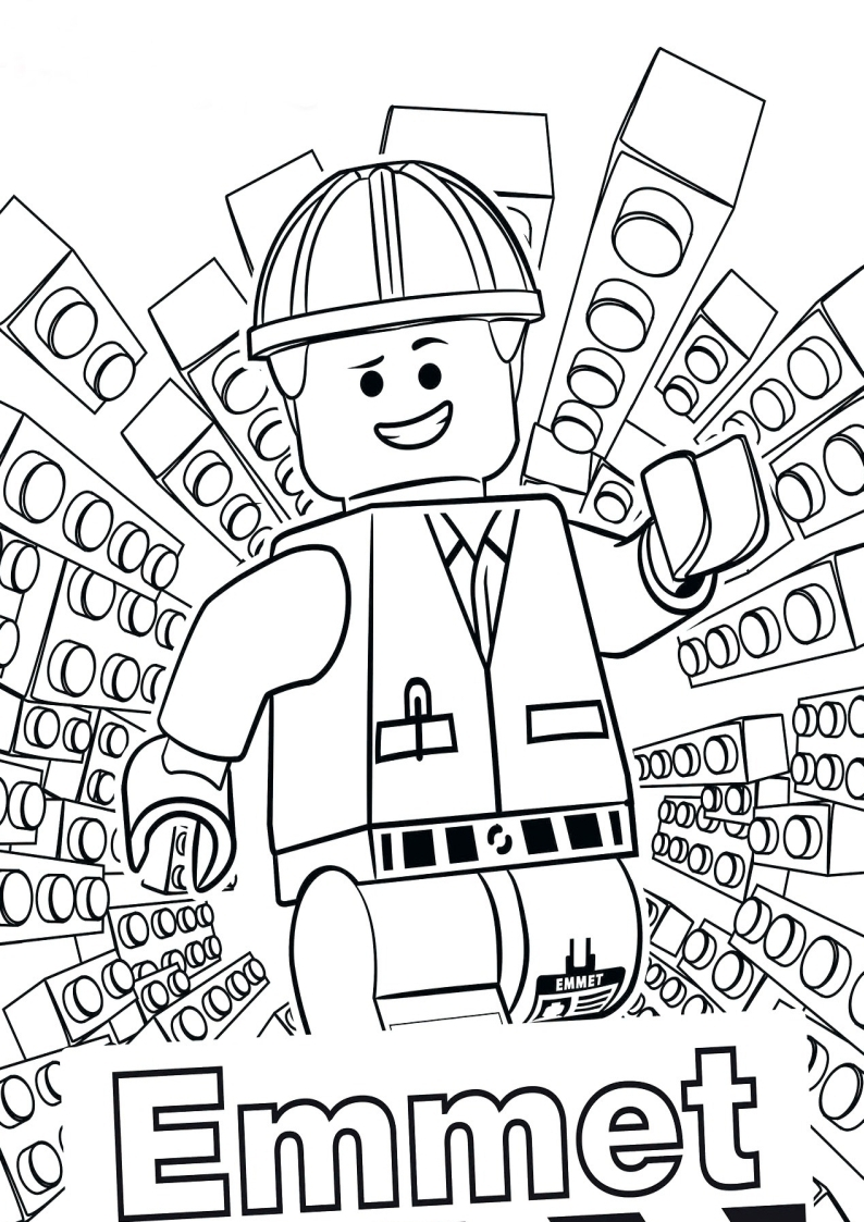 Kolorowanka Lego City Ludzik Emmet Nr 21