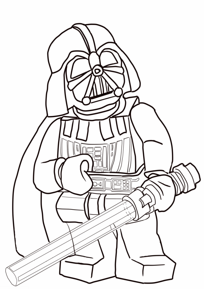 Kolorowanka Lego Star Wars Darth Vader Nr 2