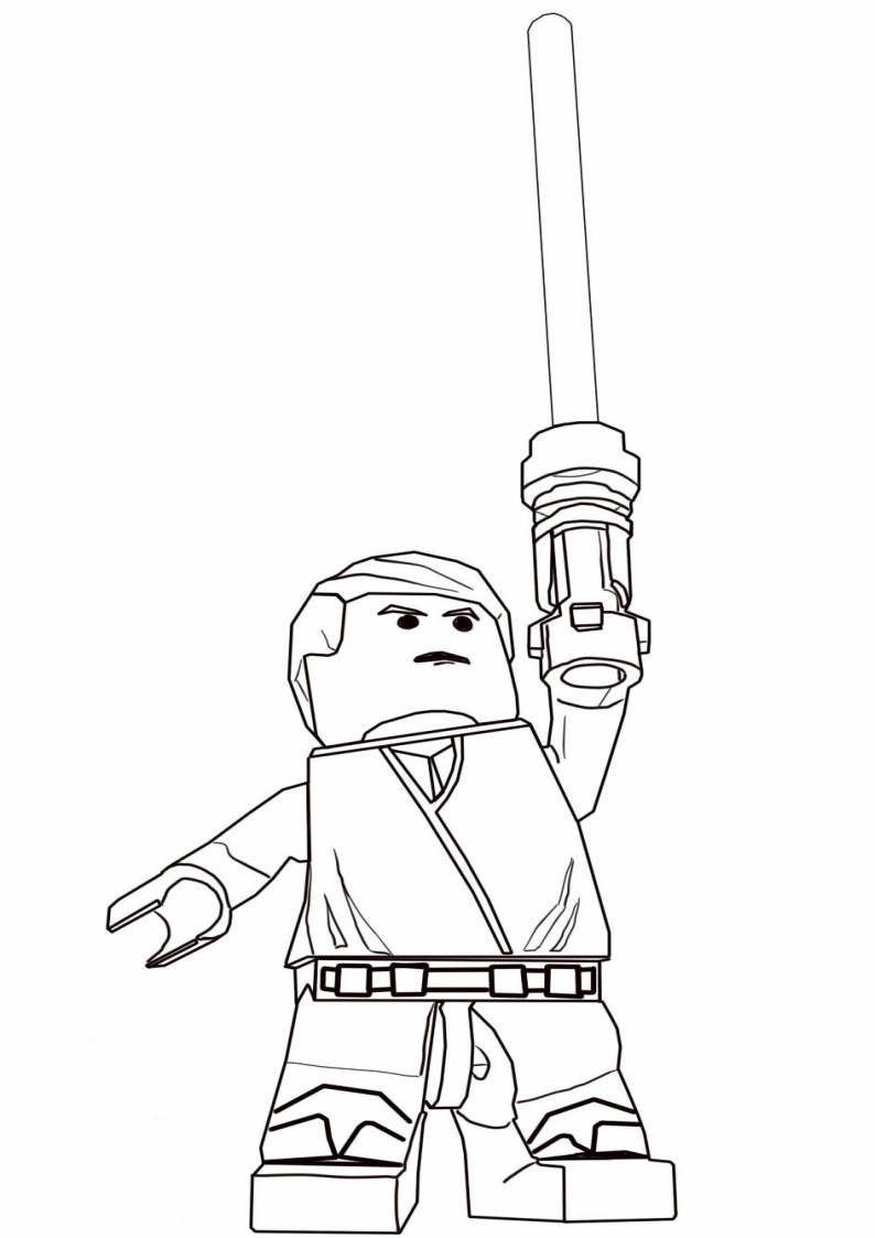 Kolorowanka Lego Star Wars Nr 3