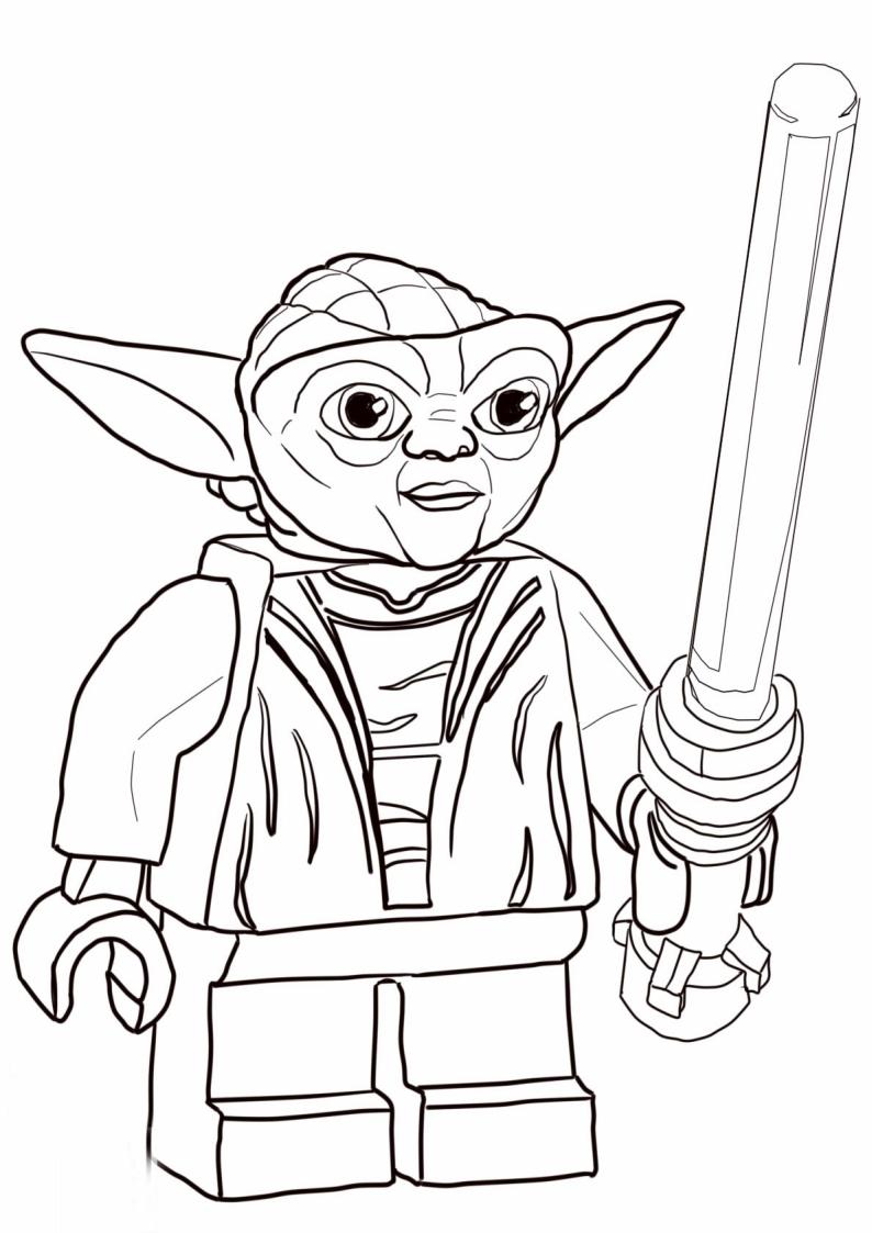 Kolorowanka Lego Star Wars Yoda Nr 7
