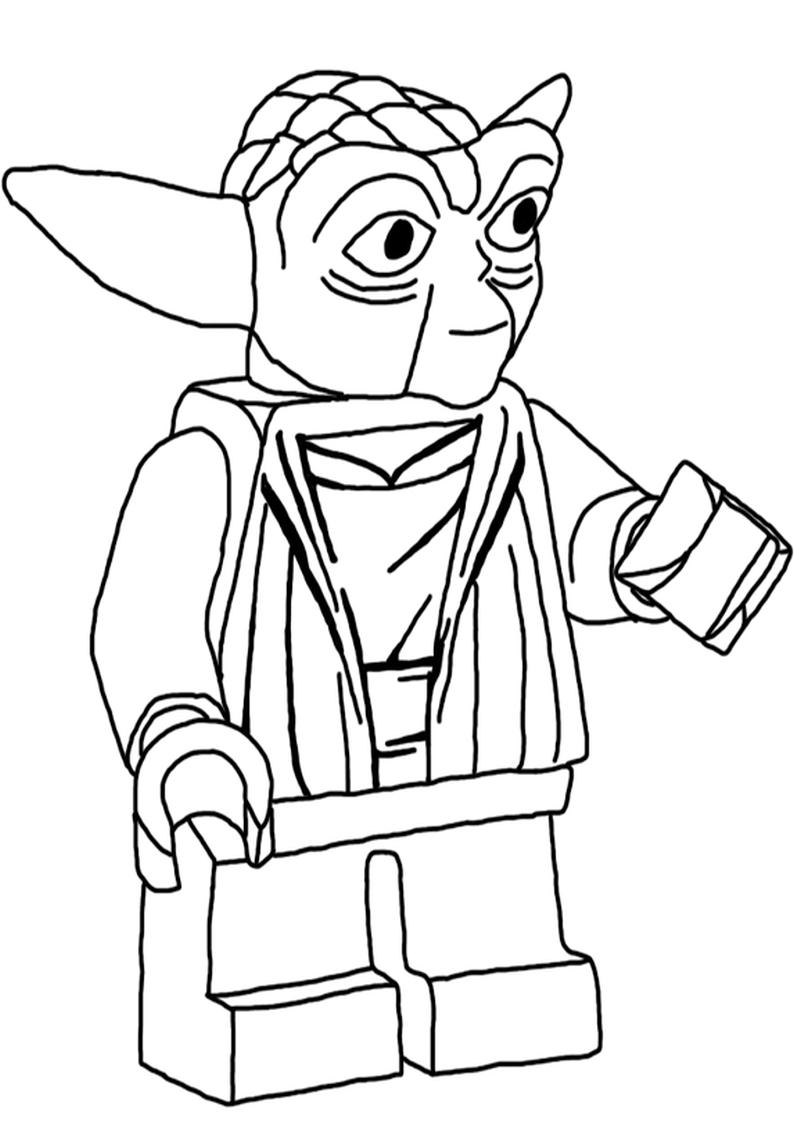 Kolorowanka Lego Star Wars Yoda Nr 8