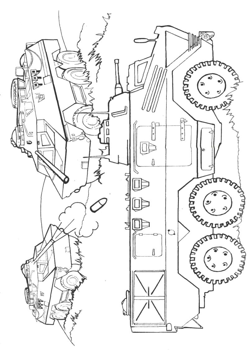 Kolorowanka Wojsko Wojskowe Transportery Nr 34