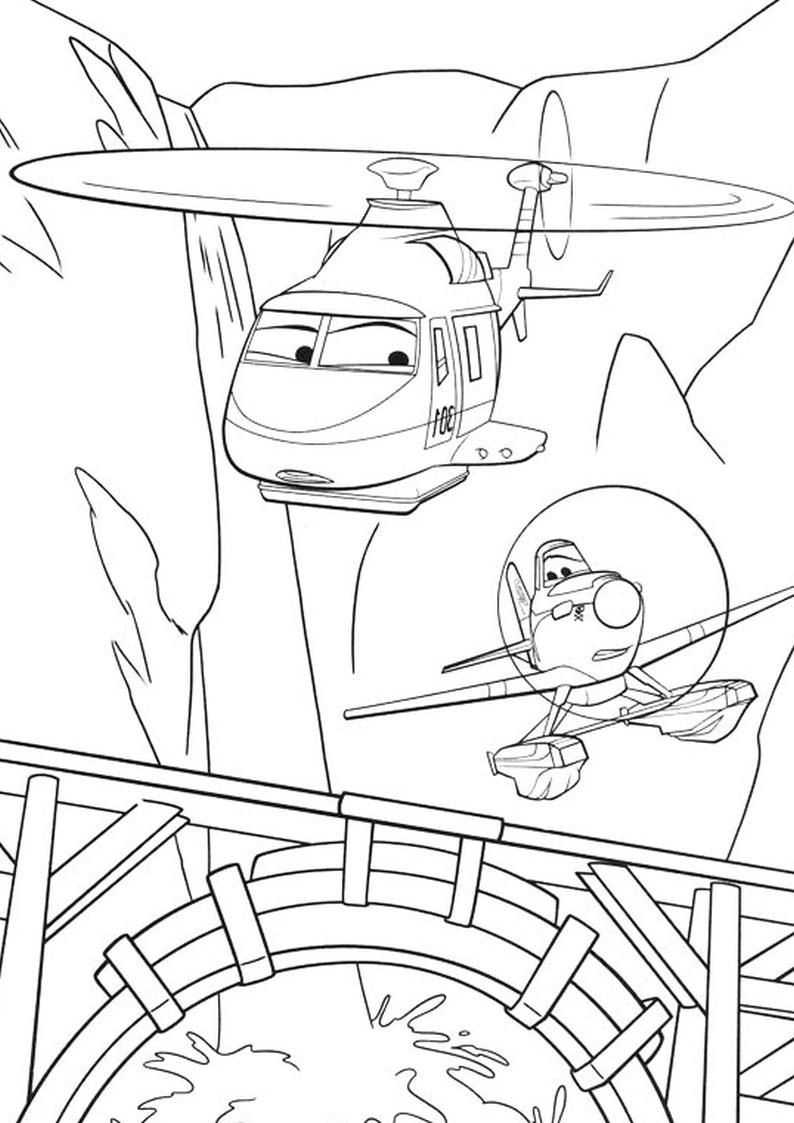 Malowanka Samoloty 2 Disney Kolorowanka Nr 6