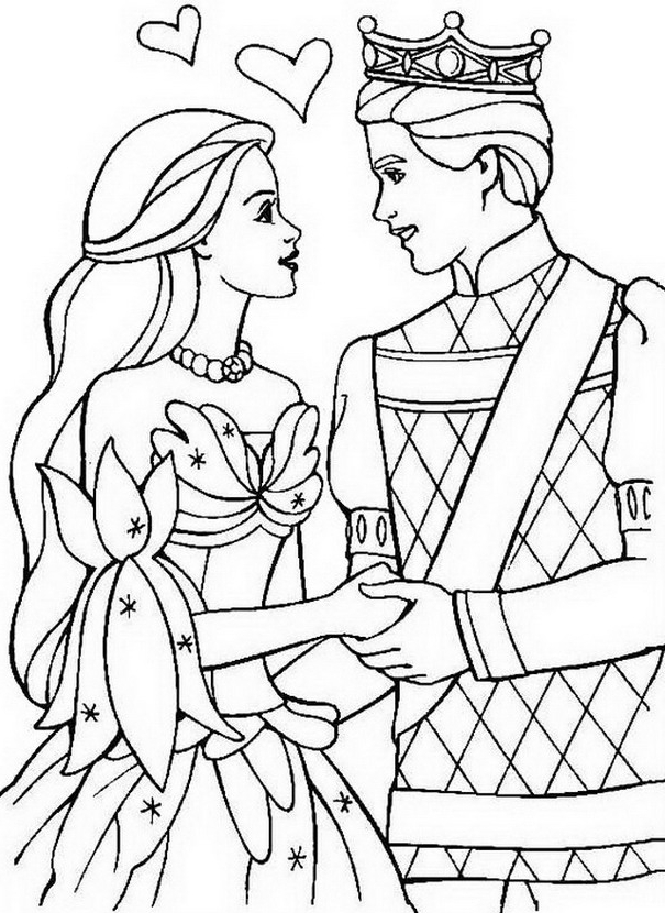 Princess Barbie Kolorowanki Dla Dziewczyn Albo Kolorowanka And The Princess And The Pauper Free Coloring Sheets