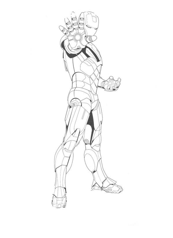 Kolorowanki Iron Man malowanki