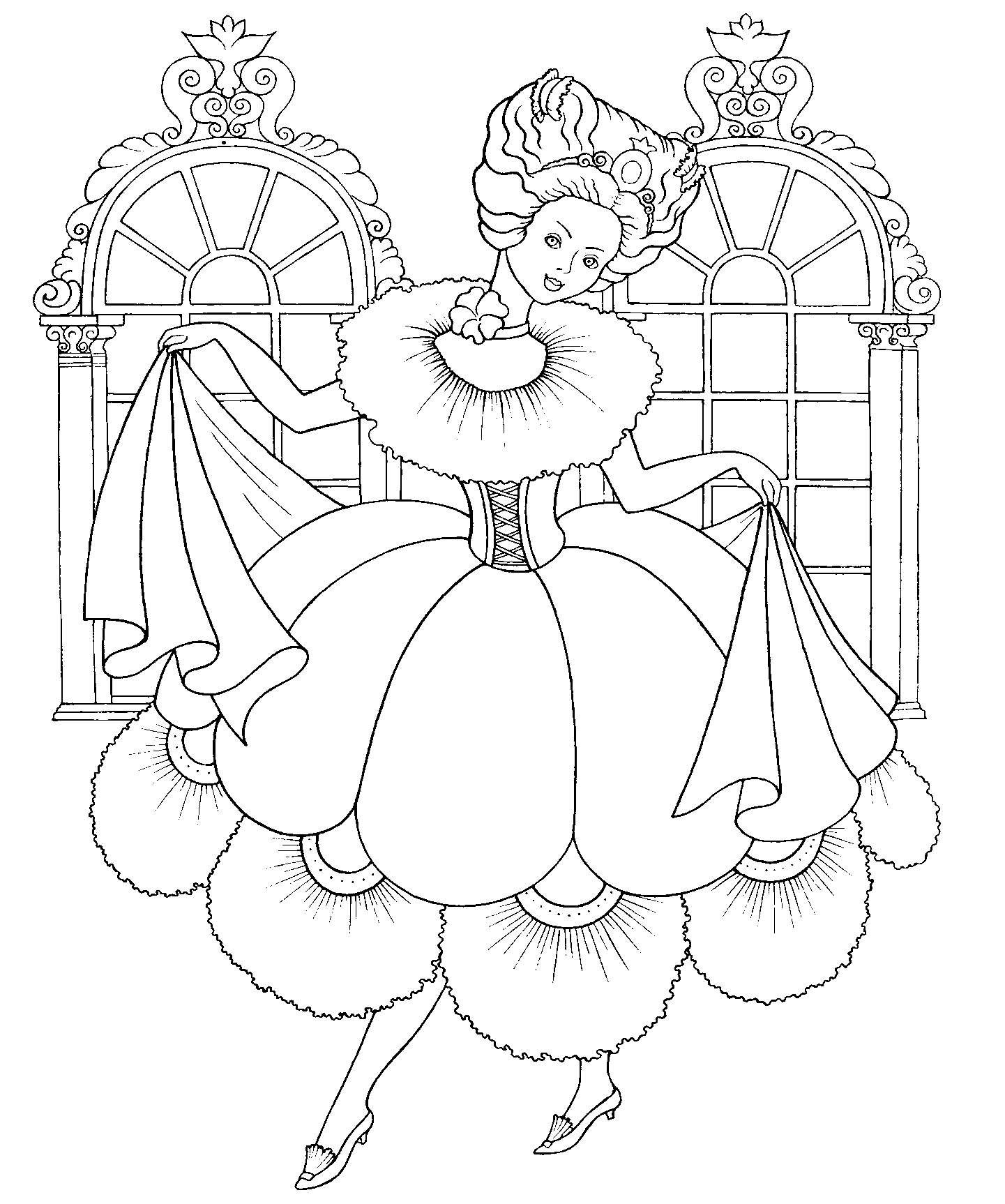 DLA DZIEWCZYN Kolorowanki Księżniczki: księżniczki dla dziewczynek