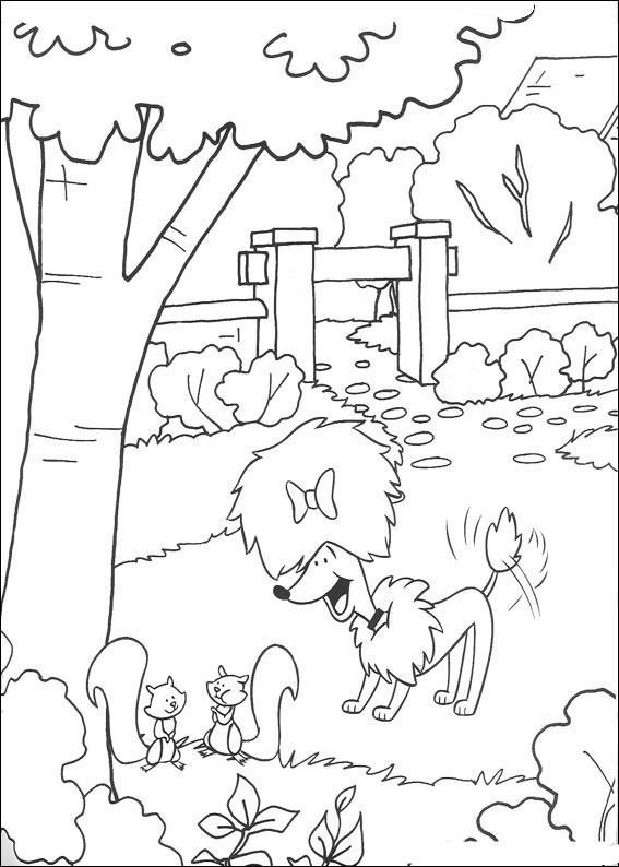 Kolorowanki clifford do wydruku dla dzieci malowanki for Disegnare giardini