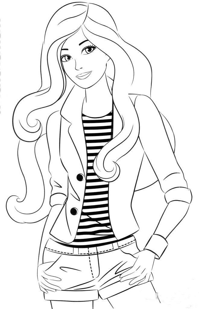 Kolorowanki Barbie Kolorowanki Barbi Dla Dziewczynek