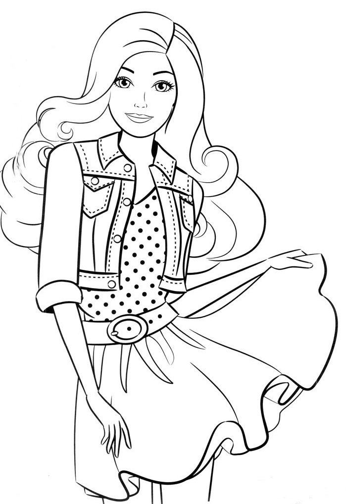 Barbie Cake Coloring Pages Sketch