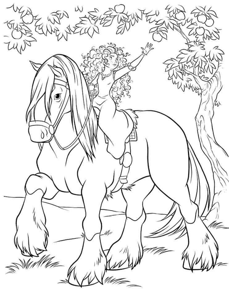 princess horses coloring pages - photo#23