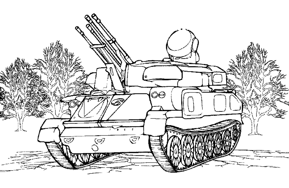печатать раскраски про танки