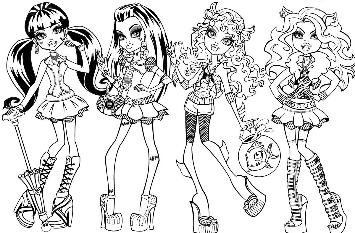 Free Coloring Pages Of Monster High Kolorowanki