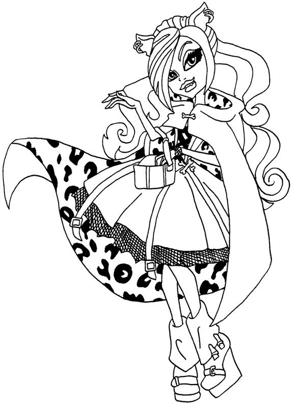 Kolorowanki monster high do wydruku strona 2 for Monster high coloring pages clawdeen wolf