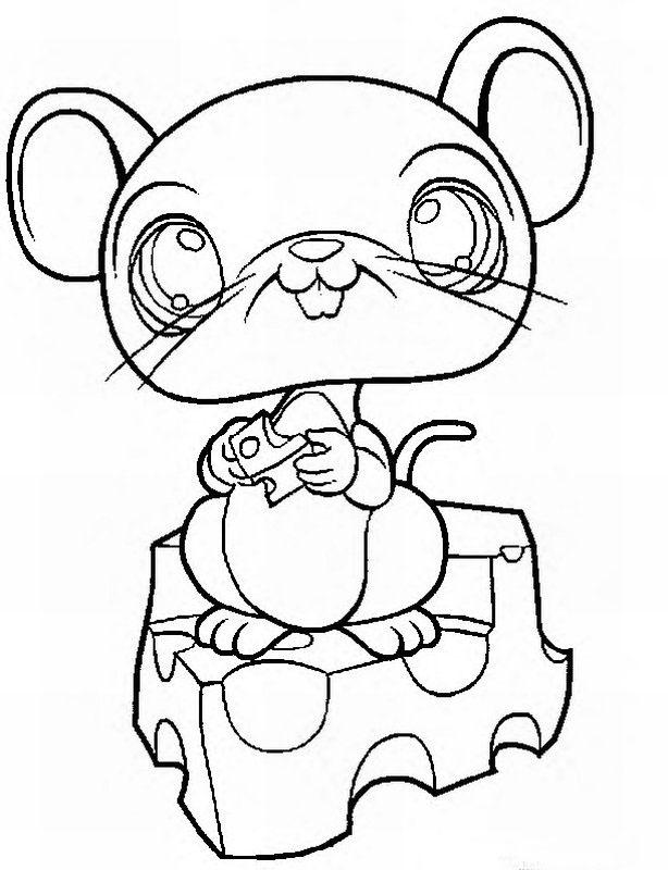 Littlest pet shop coloring pages panda