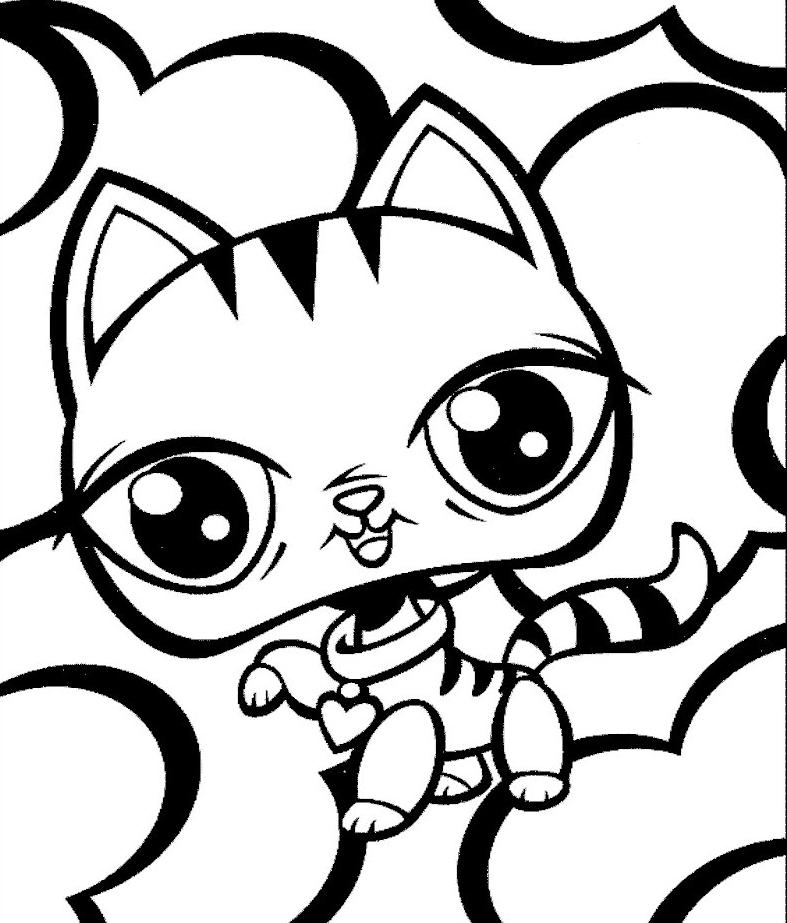 Dla dziewczynek kolorowanki pet shop do wydruku for Shop coloring page