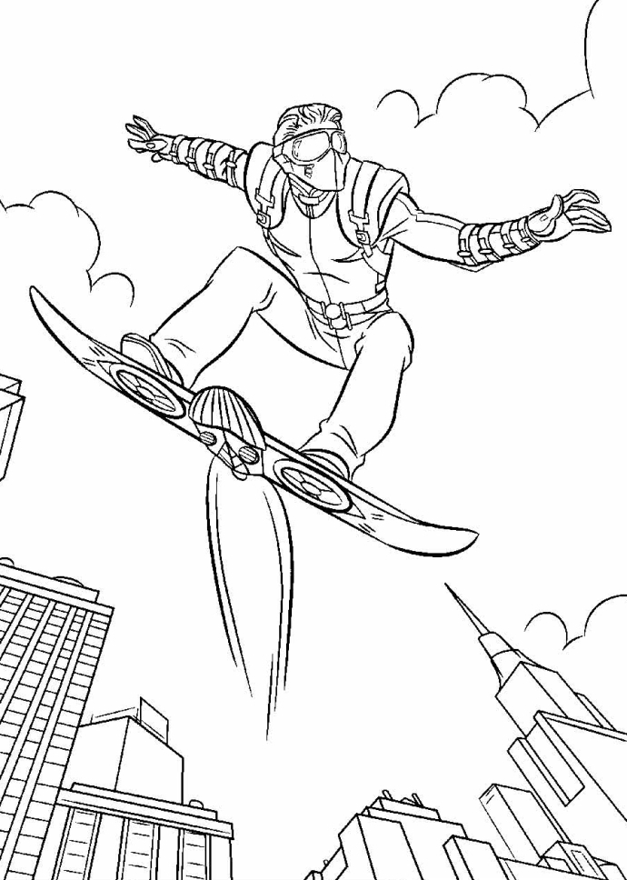 coloring pages green goblin - photo#26