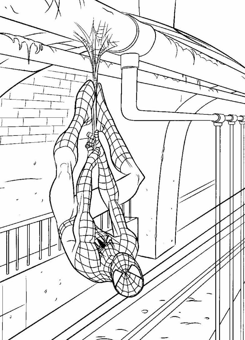 Kolorowanki Spider Man dla ch opc w