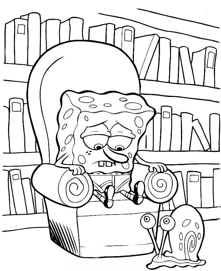 Kolorowanki spongebob malowanki do wydruku for Spongebob coloring pages online