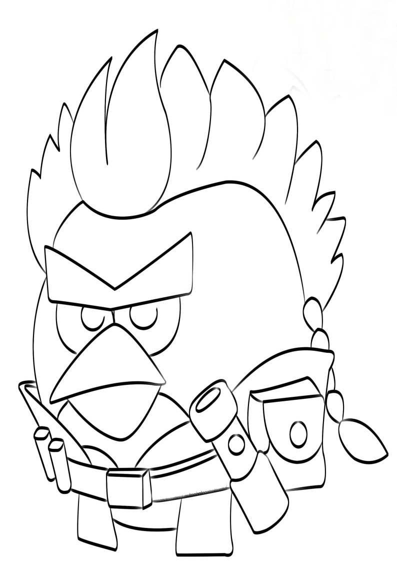 Kolorowanka Angry Birds Star Wars Malowanka Redkin Nr 1