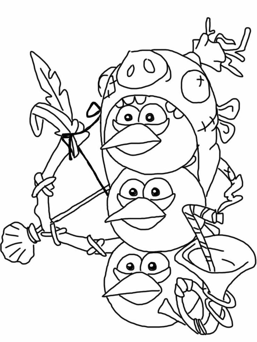 Kolorowanka Angry Birds Epic Do Wydruku Nr 1